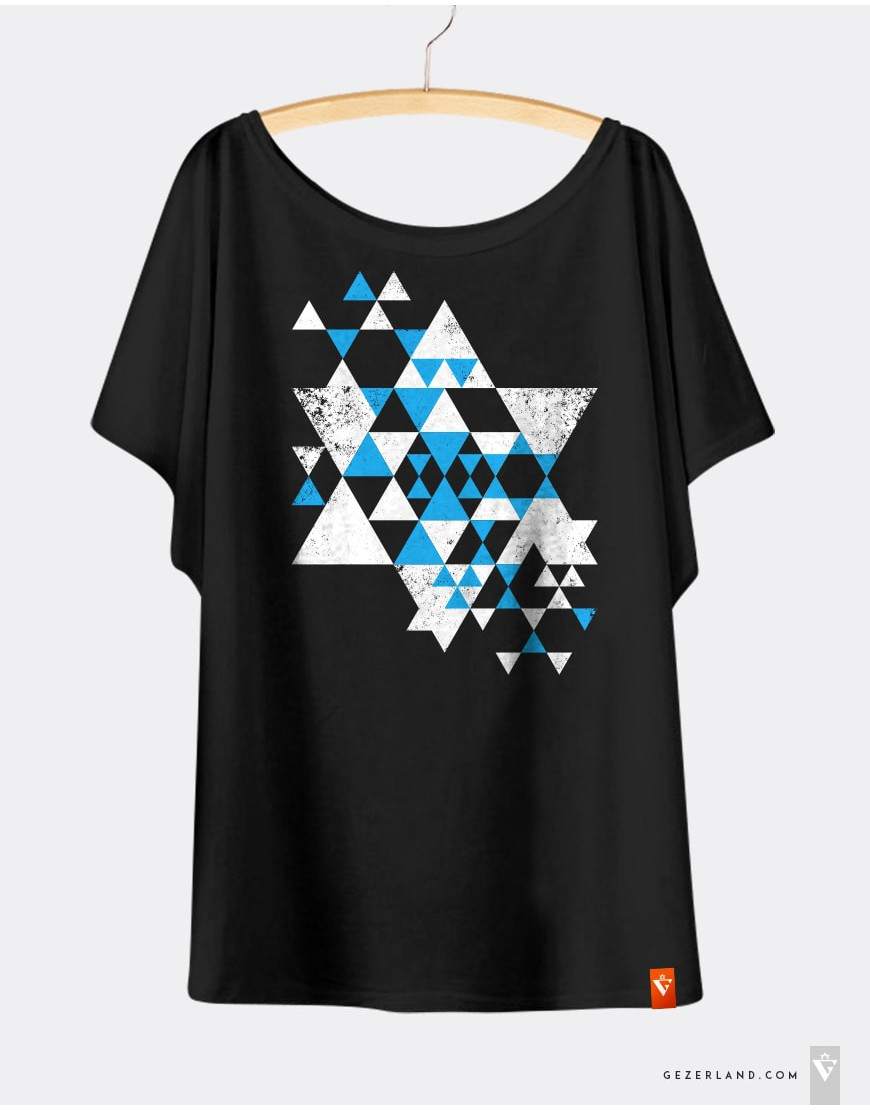 T-shirt Magen David Triangles